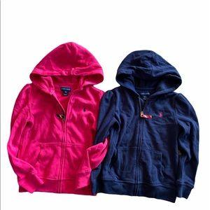 Lot of Ralph Lauren little girls full zip jacket